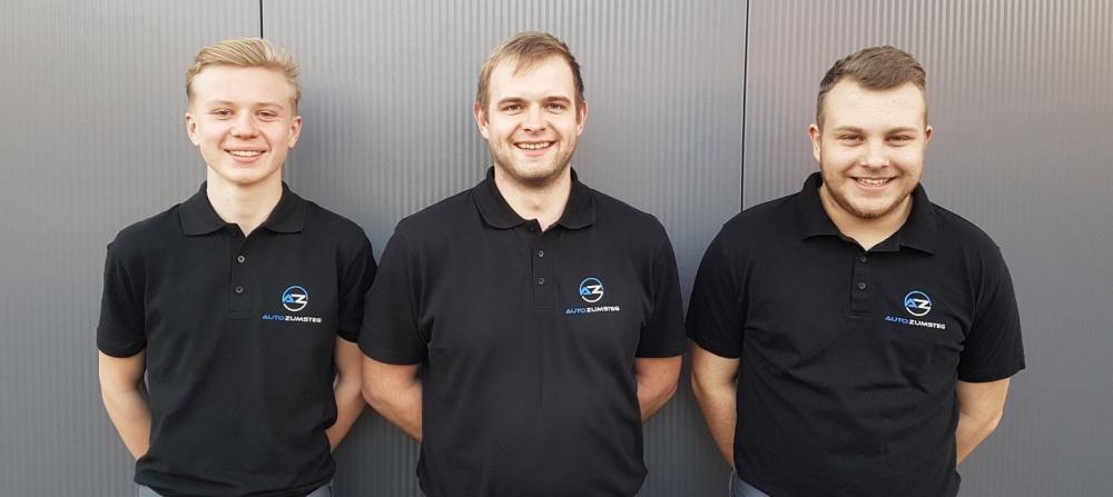 (von links): Timo Eschler, David Zumsteg (Inhaber), Jan Rotzler